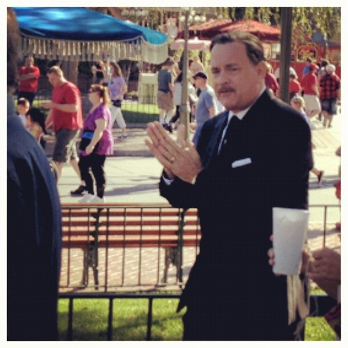 Photos of Tom Hanks Filming Saving Mr. Banks at Disneyland