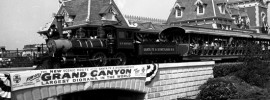 "One of the things I enjoy most about Disneyland is the history of the theme park. This past weekend, the Grand Canyon diorama in the the Disneyland Railroad reached fifty-five years as part of the attraction. The diorama might not be a thrill ride by today's standards. But in 1958, the 306-foot-long diorama was considered a big attraction and boldly hyped as the ""longest diorama in the world."""