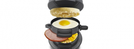 We are proud to show you what will likely be one of the most popular Father's Day gift items this year. Behold, the Hamilton Beach 25475 Breakfast Sandwich Maker.