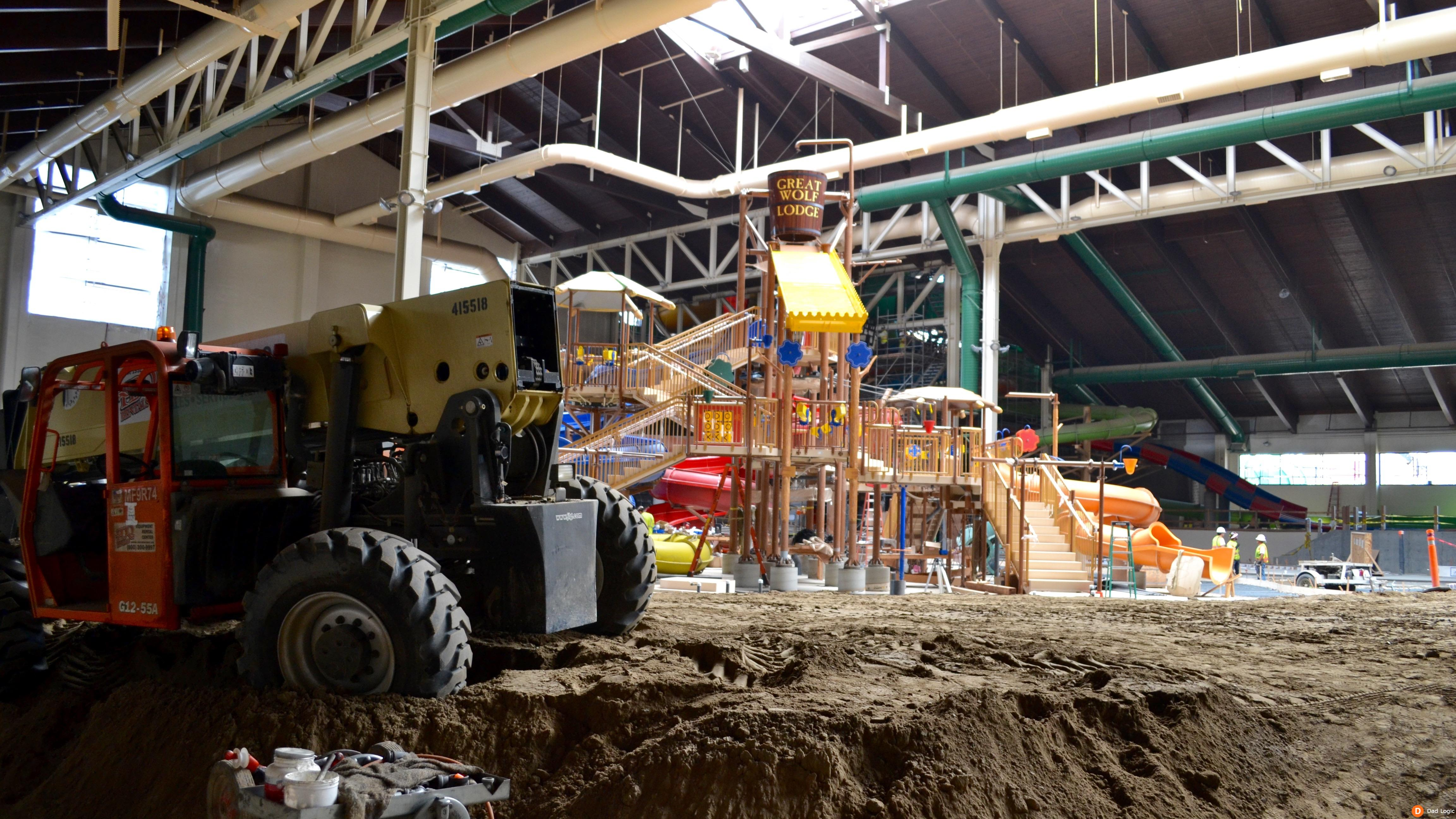 Great Wolf Lodge Southern California Opens In March 2016 Construction Photos Dad Logic