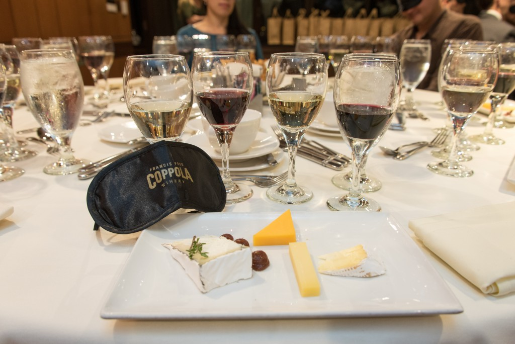 "Wine Tasting that Begins with a Blindfold: Coppola Winery's ""Tasting in the Dark"""
