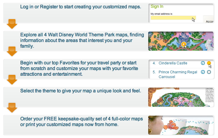 Get a free customized walt disney world map dad logic get a free customized walt disney world map of your favorite attractions gumiabroncs Gallery